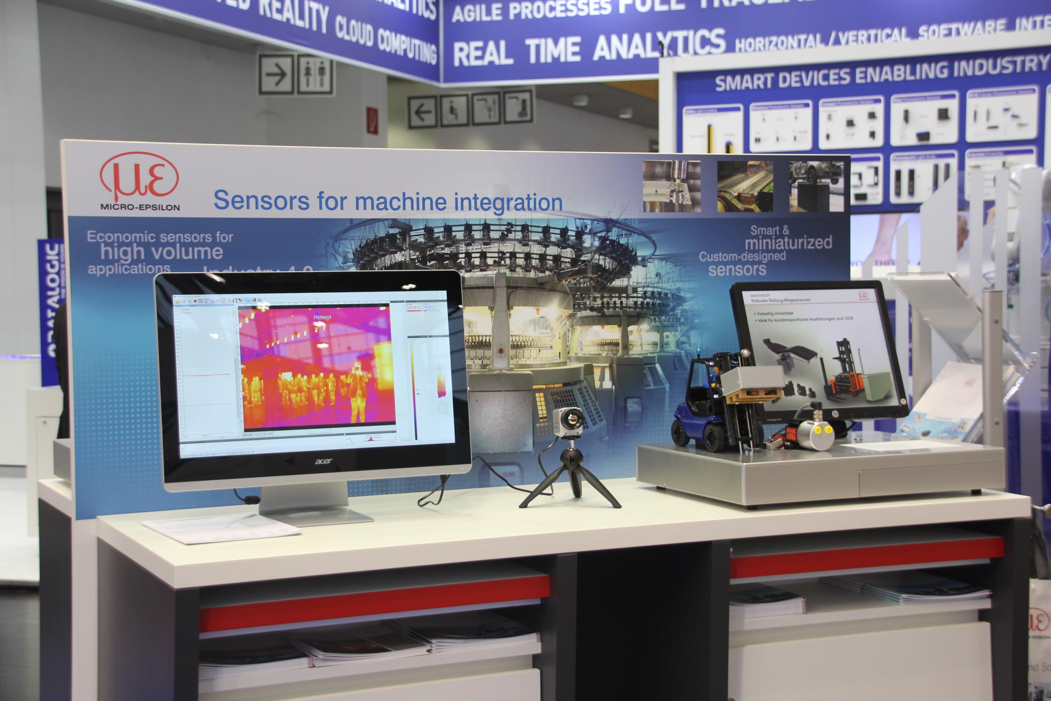 Micro-Epsilon zeigt Sensoren für die Maschinenintegration
