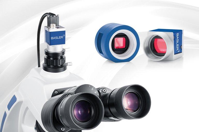 Bildverarbeitung baslers mikroskopie kamera liefert bis zu 200 fps