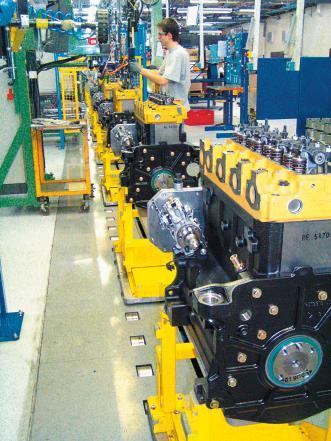 Mit Profibus realisierte flexible Montagelinie für Motoren Turbo für ...