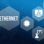 Symbolische-Darstellung-der-Ethernet-Feldbus-Technologie-in-der-Produktion