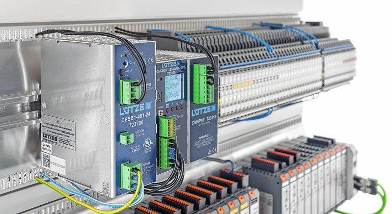 Komponenten einer Stromversorgung von Lütze