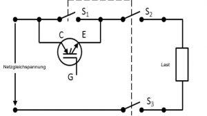 Hybridschalter für Gleichströme