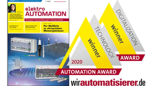 Cover_elektro_AUTOMATION_und_Logos_von_Automation_Award_und_wirautomatisierer.de
