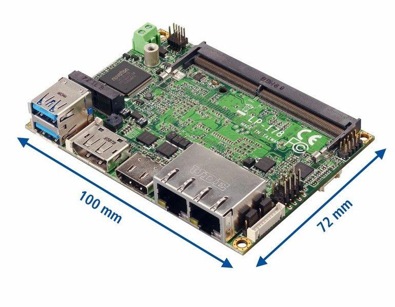 Pico-ITX-Board Spectra Embedded-PC-Systeme intelligente Kameras fahrerlose Transportsysteme