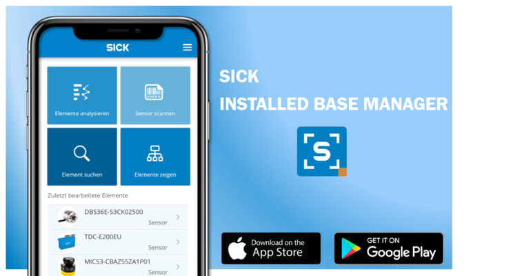 Sick Ready-to-Use-I-4.0-Lösungen Installed Base Manager