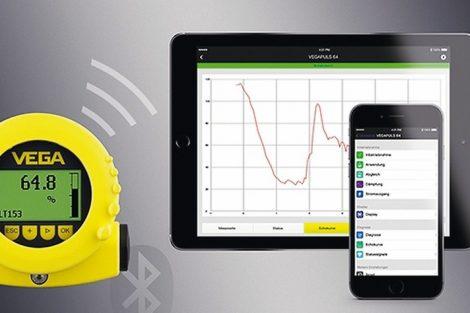 Vega bietet Messwertübertragung per Bluetooth